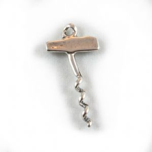 Charm School UK > Sterling Silver Charms > Food > Corkscrew